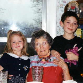 The kids with Gram, Thanksgiving 2006